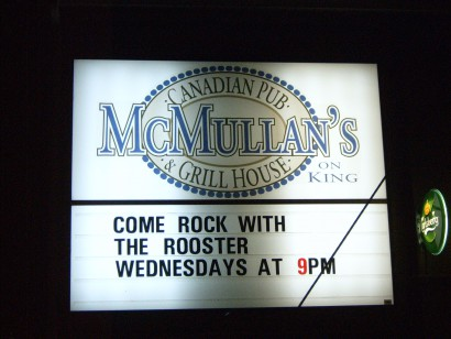 Acoustic Rooster at McMullan's Sign